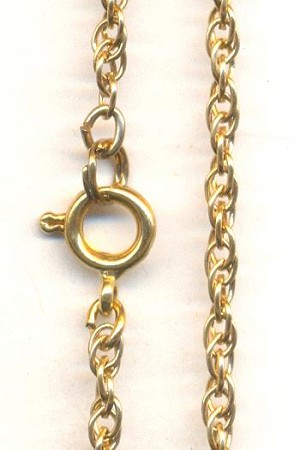 24'' Brass Rope Chain Necklace