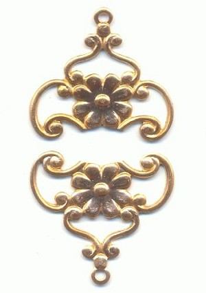 18mm Filigree Flower Drops/Charms