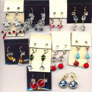 Mixed Lot Swarovski Rhinestone Earring 2