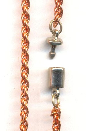 15 1/2'' Copper Plate Rope Chain Necklace