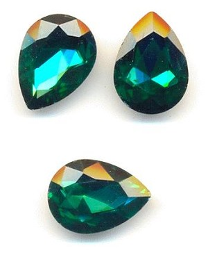 18x13mm Emerald/Green Zircon Pear - Bulk