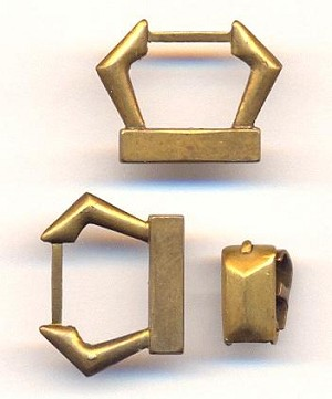 Foldover Clasp Set - Ends For Soldering