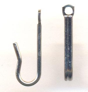 15mm Silver Necklace Hooks