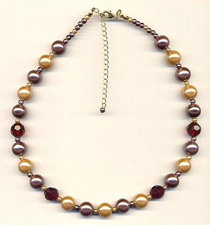 18'' Acrylic Pearl Beaded Necklace