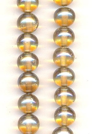 10mm Dark Crystal Luster Glass Beads