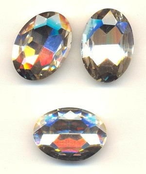 30x20mm Crystal Clear Oval Rhinestone