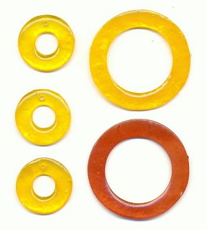 Mixed Yellow and Rust/Brown Rings