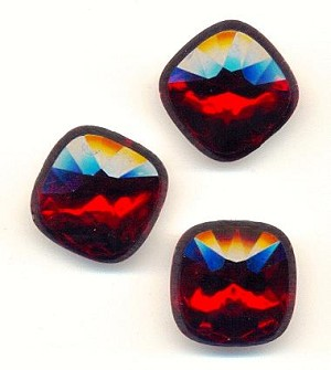 18.5mm Acrylic Siam Ruby Cushion Stones