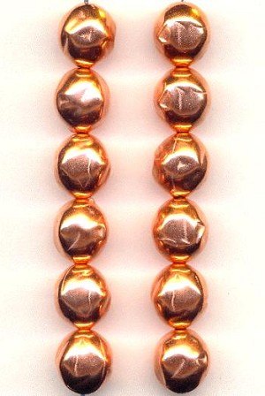 11mm Copper Plated Metalized Beads
