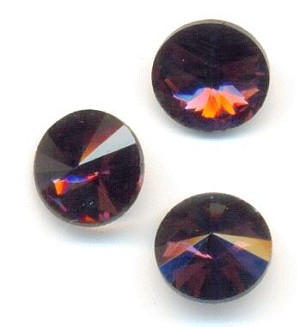 8mm Amethyst/Purple Rivoli Rhinestone