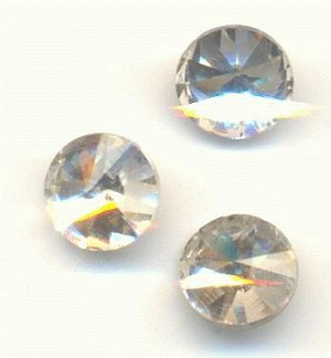 6mm Clear Crystal Rivoli Rhinestone
