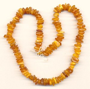 17'' Natural Amber Nugget Beads