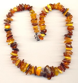 17'' Mixed Natural Amber Beaded Necklace