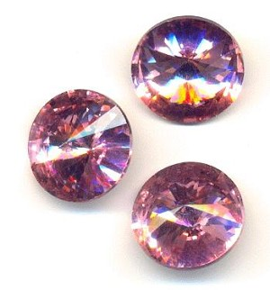 18mm Light Rose/Pink Rivoli Rhinestone