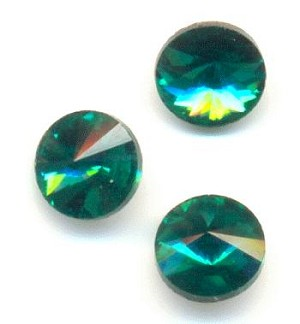 6mm Emerald/Green Zircon Rivoli RS