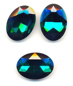 30x20mm Emerald/Green Zircon Oval RS