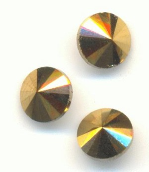 6mm Aurum Rivoli Crystal Rhinestone
