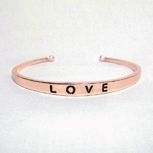 5.5mm Copper Plated ''LOVE'' Cuff Bracelet
