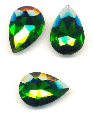 30x20mm Grass Green Pear RS