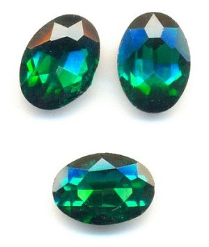 14x10mm Emerald/Green Zircon Oval RS