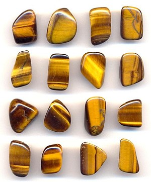 Mixed Tiger's Eye Polished Stones