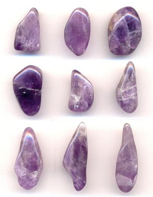 Mixed Amethyst Polished Stones