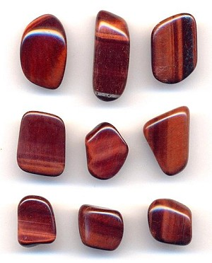 Mixed Red Tiger's Eye Polished Stones