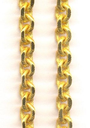 6.5x5mm Matte GP Textured Cable Chain
