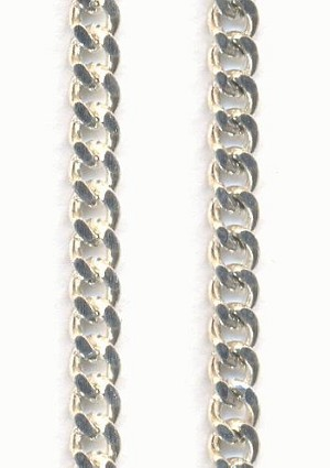 4x3.4mm Silver Plated Curb Chain
