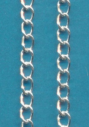 30'' Pre-Cut 5x3.5mm SP Curb Chain