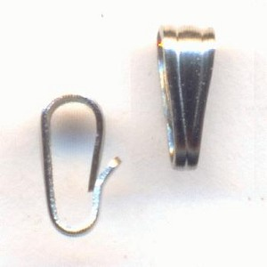 6x2mm Silver Plated Bails