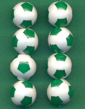 15mm Acrylic Soccer Ball Beads