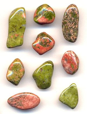 Mixed Unikite Polished Stones
