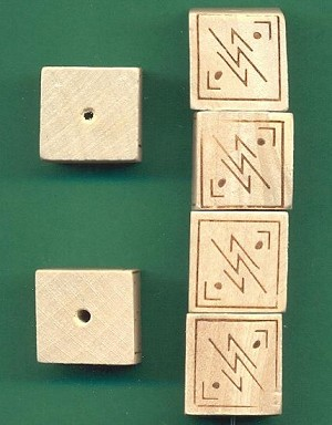 18mm Wooden Cube Beads