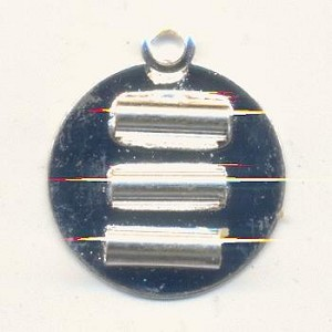 15mm Silver Plated 3 Strand Connector