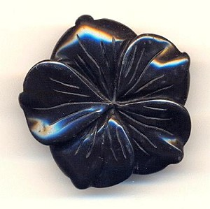 40mm Black Onyx Flower Bead 3-Strand