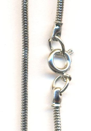 15'' Silver Plated Snake Chains