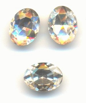8x6mm Crystal Clear Oval Rhinestone