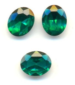 10x8mm Emerald/Green Zircon Oval RS