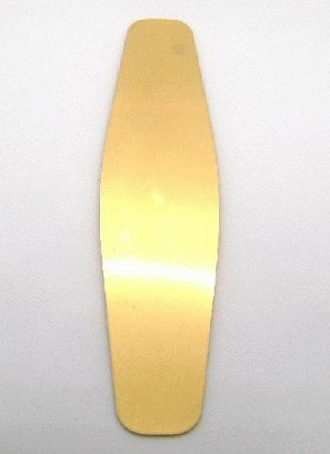 1 1/4''x 6'' FLAT Tapered Brass Cuff Blank