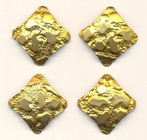 33mm Hammered Brass Charms