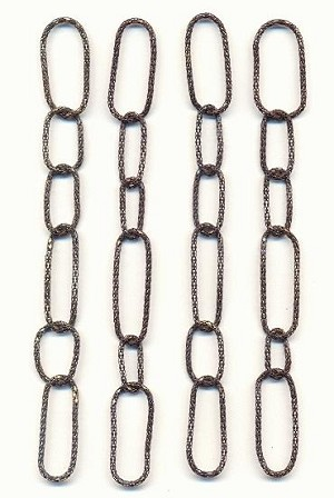 6'' by 13mm Antique Copper Chain LInks
