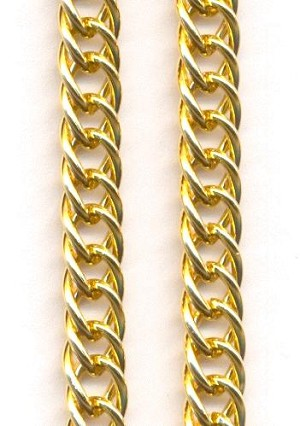 8mm Gold Plated Curb Chain