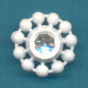 17mm White Acrylic Buttons with RS