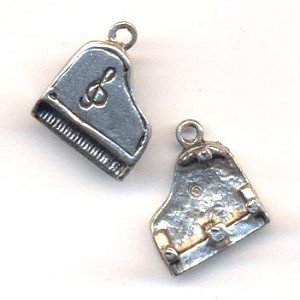 16x13mm Antique Silver Piana Charm