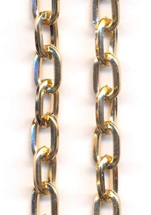 38'' Gold Plated Flat Cable Chain