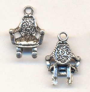 19x13mm Silver Chair Charms