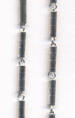 Silver Plated Tube Chain