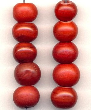 Red Bohemian Prosser Glass Beads