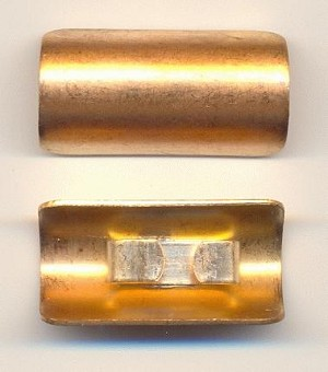 36x18mm Brass Rounded Belt Buckles